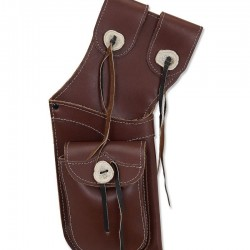 BUCK TRAIL QUIVER ANTIQUE BROWN LEATHER